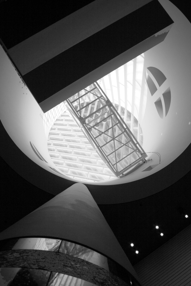 A hole in the MOMA, looking up form the lobby