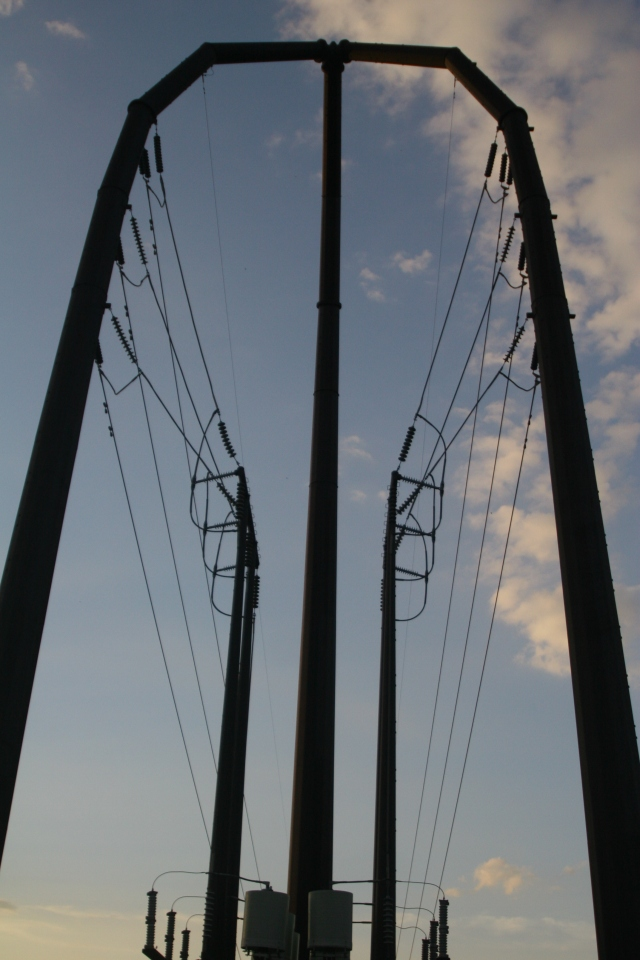 Abstract current, Power lines by Guthrie