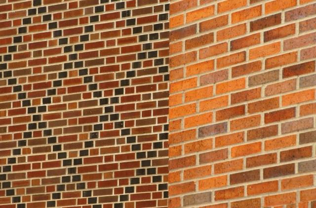 Brick o brack, blending two brick walls U of M campus