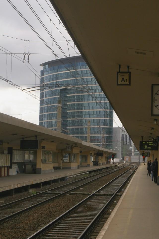Brussels train platform