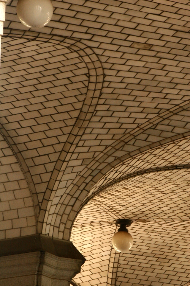 Details of tiled ceiling 19 Chambers St