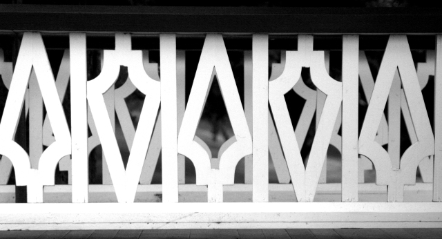Double railings - Noerenberg Garden BW version