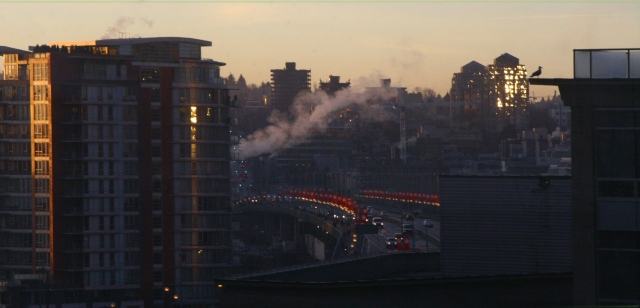 A smoking January Vancouver morning