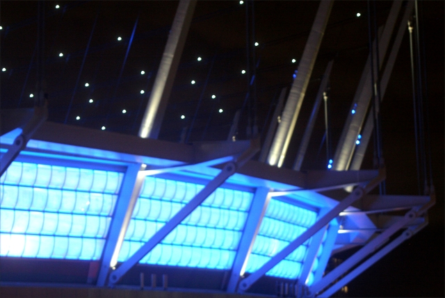 Close up of the BC Place Stadium