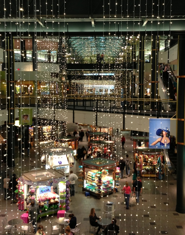 Crystal curtains of shimmering post holiday glitz, MoA west wing