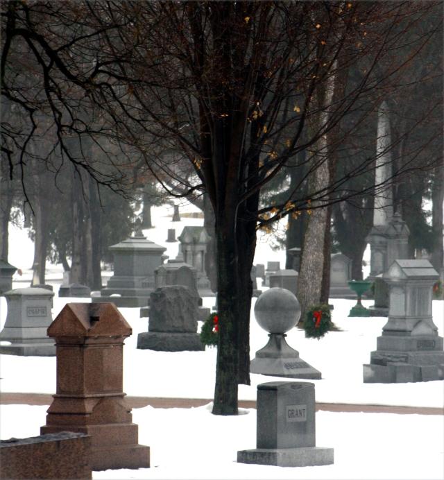 Fog hung like death .... Lakewood Cemetery