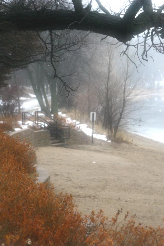 Fogged in, Lake Harriet beach scenic 002