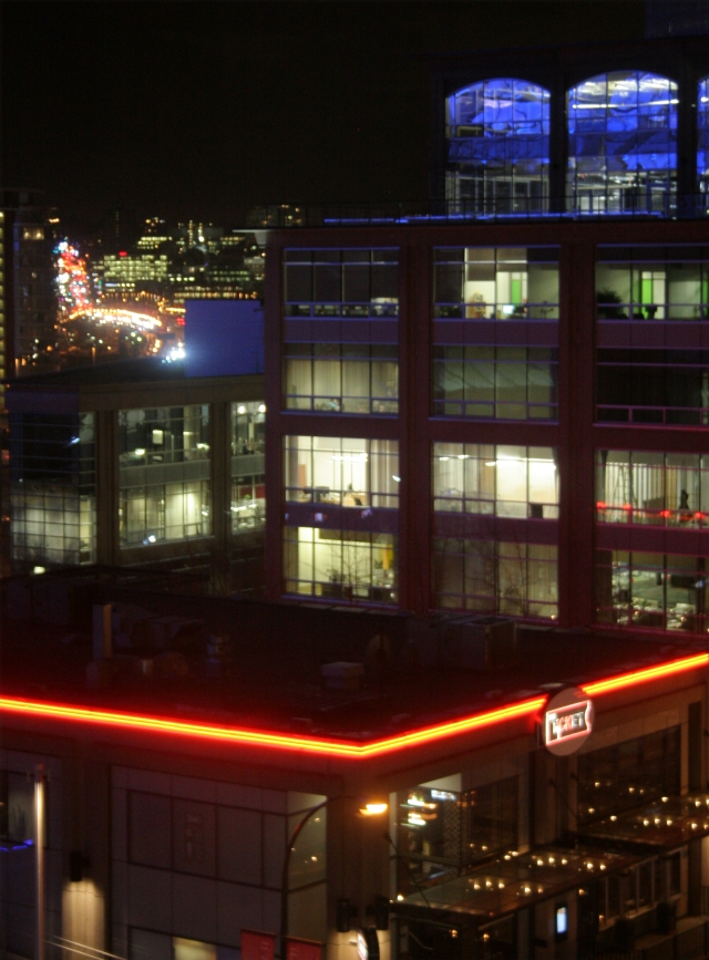 Vacouver buildings at night