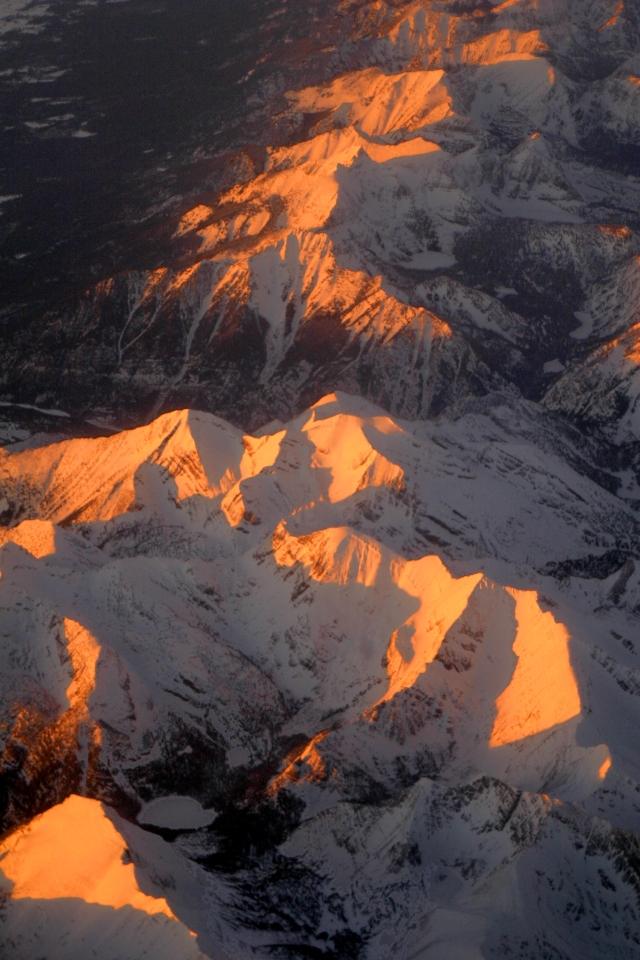 Aspen light sunset in the Rockies