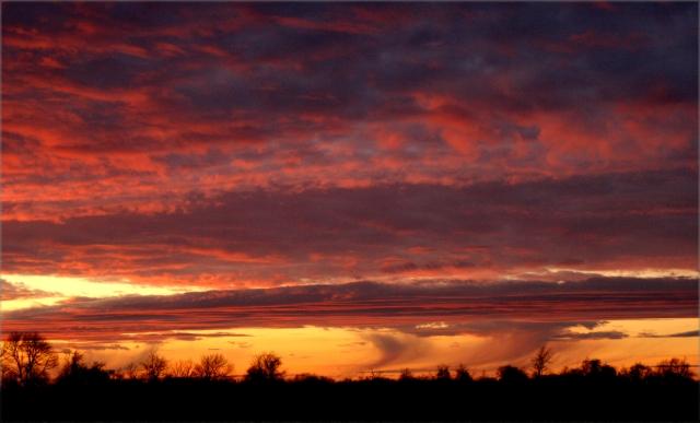 The awesome January sunset, Racine Co 002