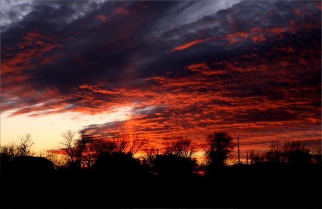 The awesome January sunset, Racine Co