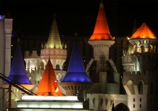 The spires of Excelibur Casino