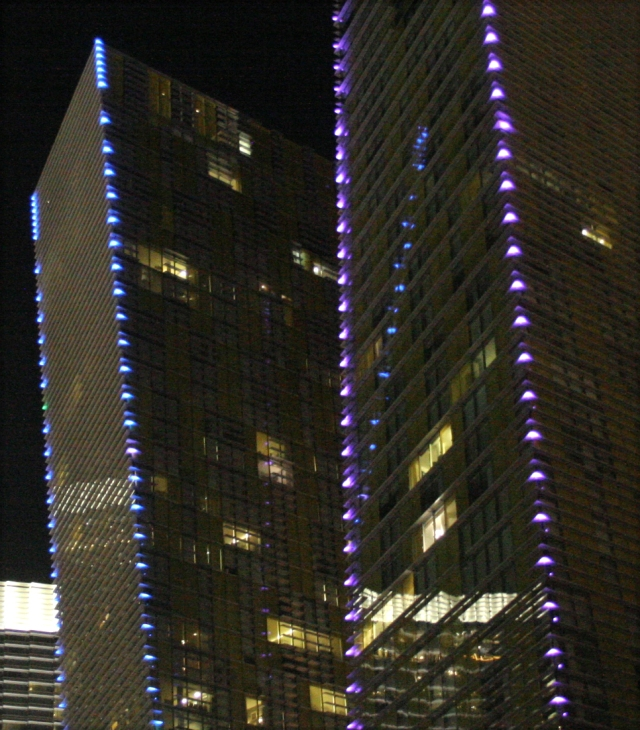 City Center lights and reflections, LV
