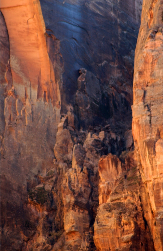 Cliff face with character, Zion Canyon Natl Pk 004