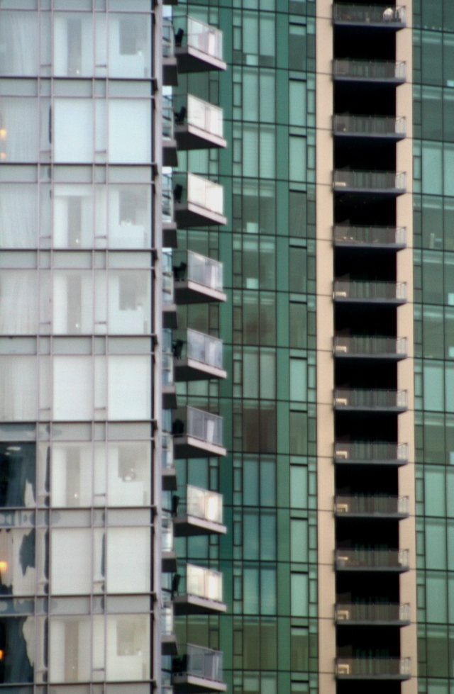 Curtainwall lines of Vancouver, BC