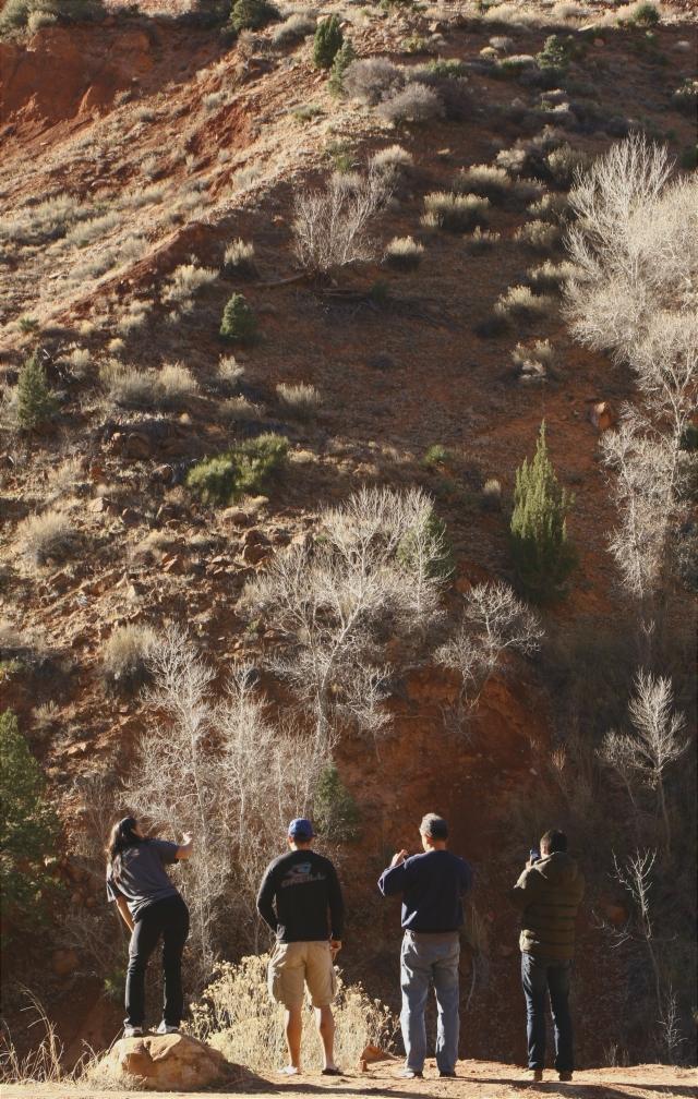 Shooters on the ridge, Zion Canyon NPk