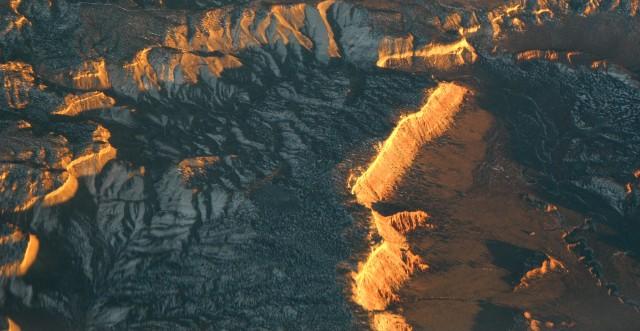 Sunset on desert ridge, Desert SW 002
