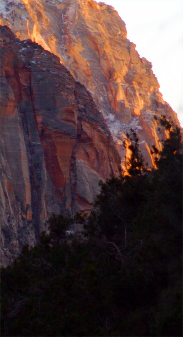 Sunset on the eastern cliffs, Zion NPk