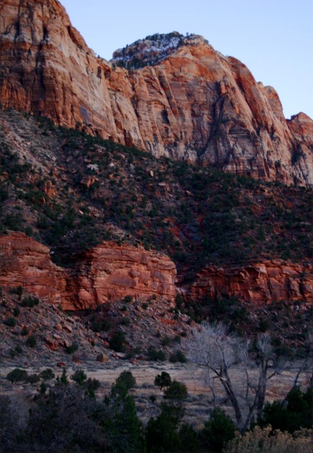 Twilight in Zion Natl Park 002