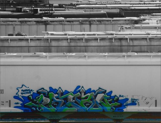 Grafitti in the rail yard