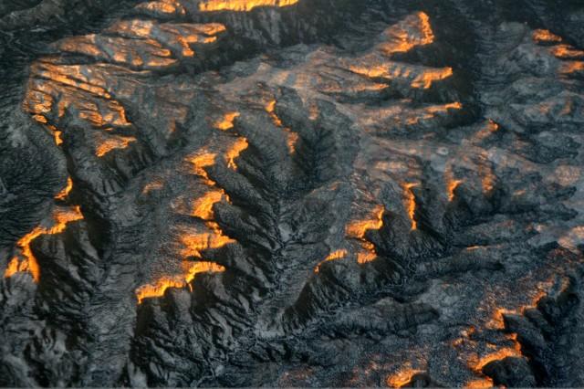 Sunset on desert ridge, Desert SW 004