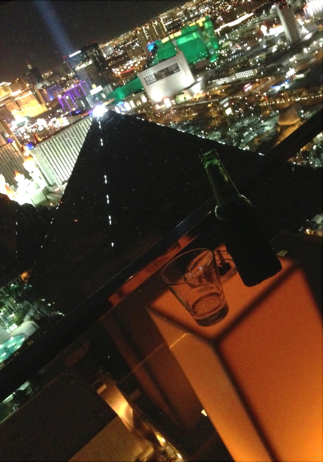 Tilt goes the Strip, Las Vegas from top of Mandalay Bay