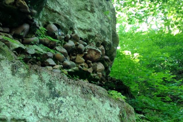Rock layers, Parfrey's Glen, WI