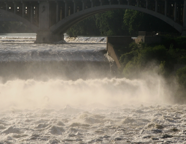 Mist over St. Anthony Falls, Minneapolis