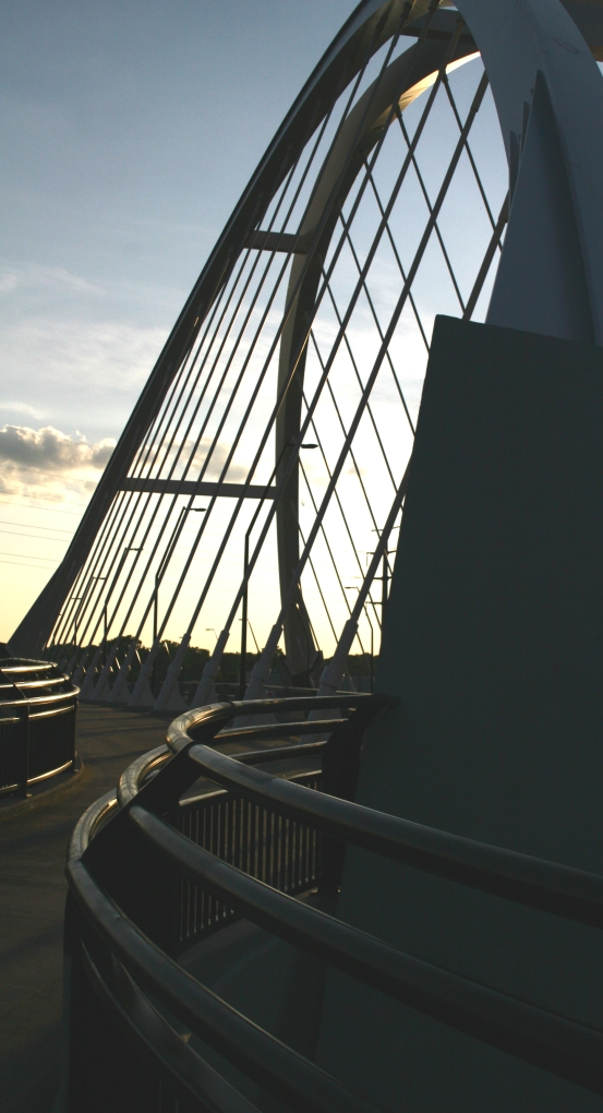 Railings and struts of Lowry Bridge