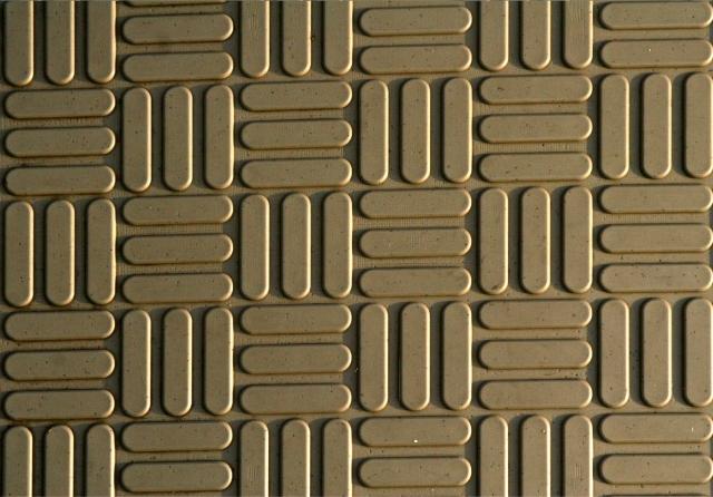 Pattern of plastic boardwalk close up