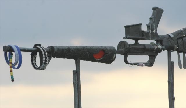 M-16 and bracklets, WI Vietnam Vet Memorial