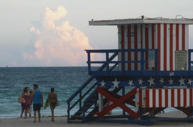 All American guard shack, Miami Beach