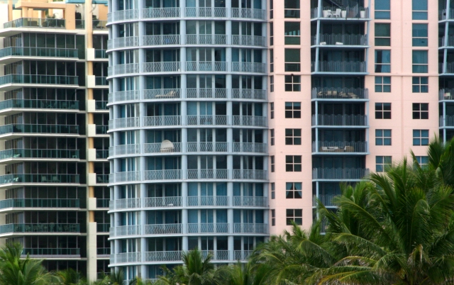 Balconies over Miami beach