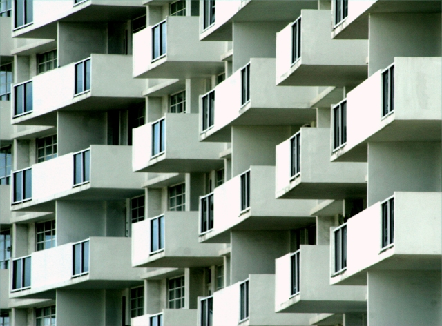 Condo balconies on Miami Beach