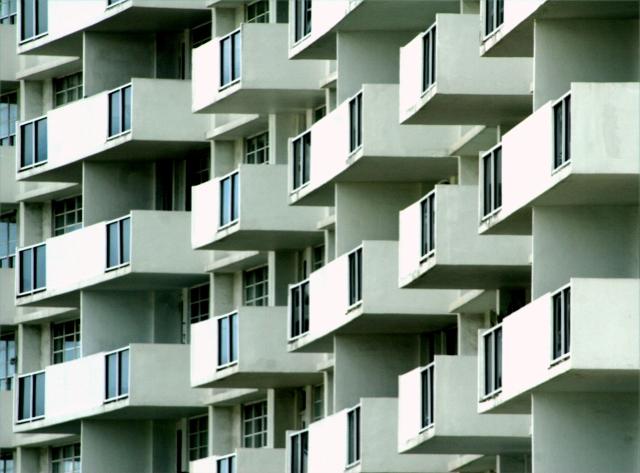 Condo balconies on Miami Beach
