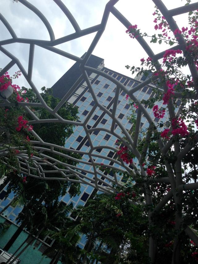 Open trellis in Miami Park