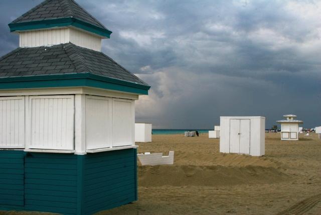 Stormy morning, empty beach