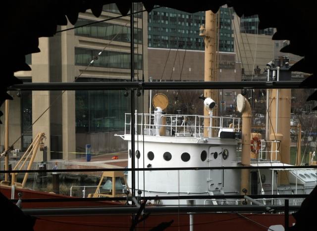 Barge going get chomped, Natl Aquarium, Baltimore
