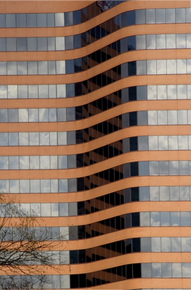 Warp Bleed reflection, building in Baltimore