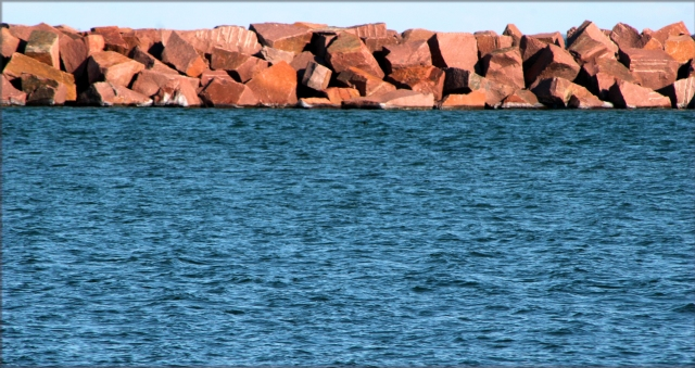 Breaker wall near Milwaukee Harbor