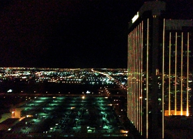 Mandalay Bay Hotel and Las Vegas environs at night