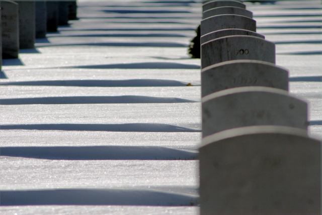 Tombstones of the known soldiers, Fort Snelling National Cemetery