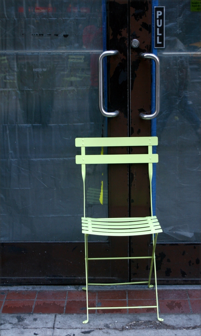 Pull chair, NYC