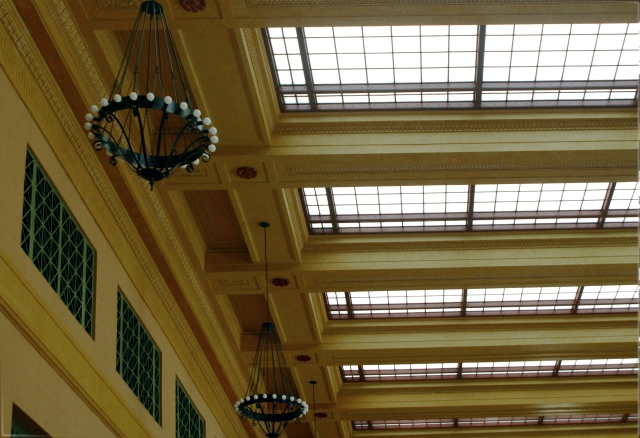 Skylights and chandeliers Grand Station St. Paul