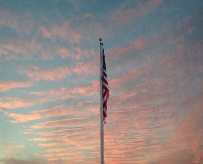 Sunset for the stars and stripes, Oakwood Elem
