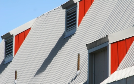Barn louvers and metal roof, Gale Farm Park