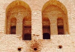 Brick work in mosque in Marrakkesh