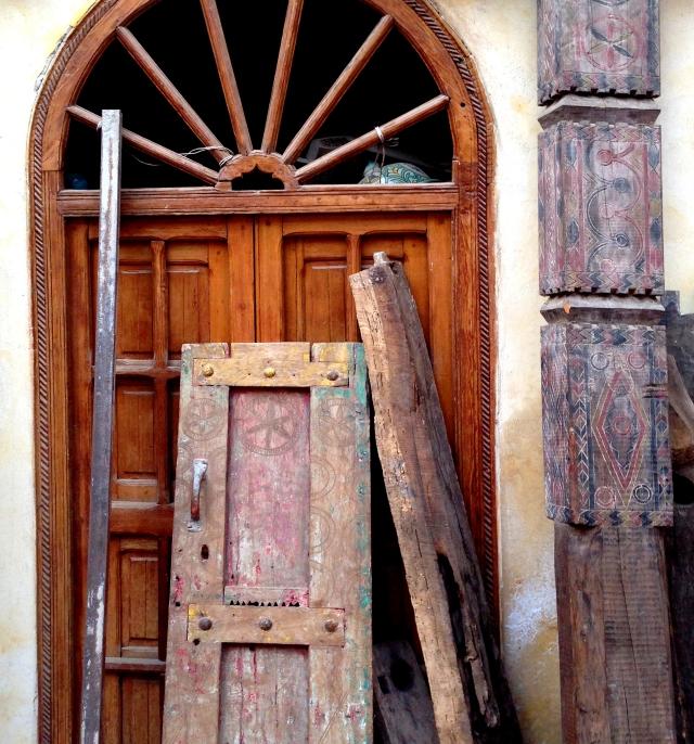 Morroco door and wood items