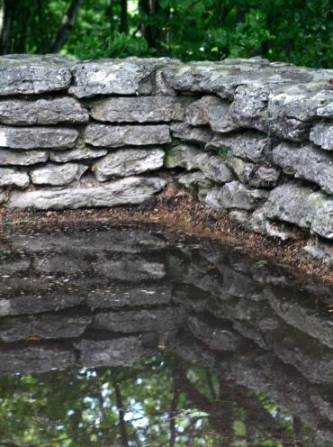 Stonewall reflection Penisula State Park