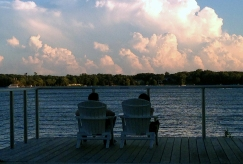 Watching the thunderstorm from Wayzata Bay